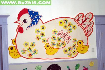 我们的鸡宝宝墙面设计图片