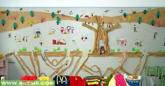 幼儿园墙面大树布置图片(第13页)