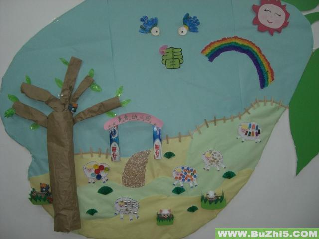 幼儿园墙饰布置  热门幼儿园环境布置图片