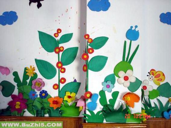花儿中班主题墙布置