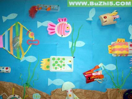 幼儿园海底世界墙饰布置大全