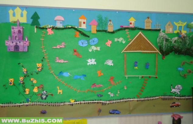 动物乐园小班活动室布置图片