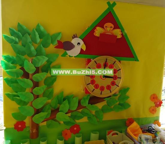幼儿园小班美工区墙饰图片展示_幼儿园小班美工区图片