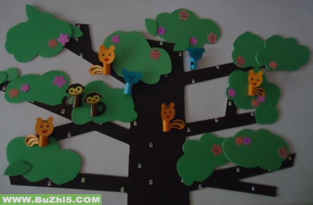 幼儿园大班树主题墙 _网络排行榜图片
