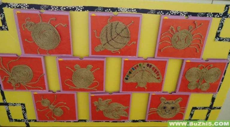 幼儿作品展示2; 海底世界; 我最棒; 幼儿园大班墙面:艺术区; 幼儿园图片