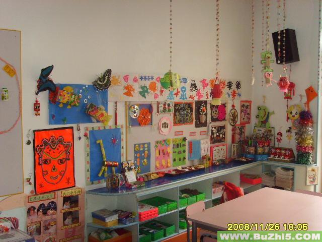 幼儿园美工区布置图片大全