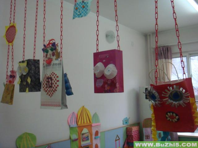 幼儿园室内环境布置图片:艺术墙_幼儿园活动室布