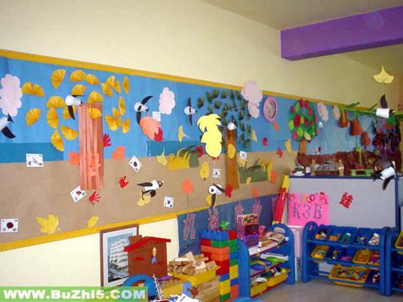 幼儿园圣诞节墙角布置图片