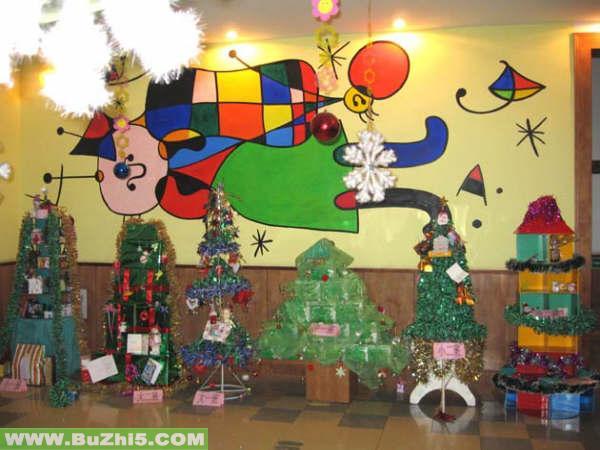 幼儿园圣诞节室内布置图片