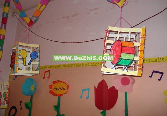 幼儿园环境创设  室内吊饰装饰大班环境创设图片下载说明:在图片上
