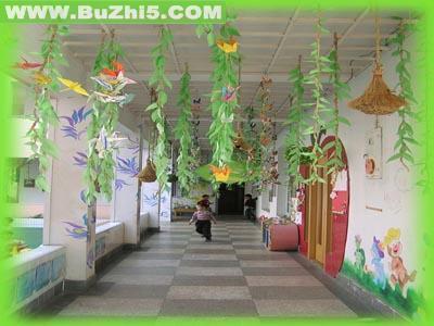 走廊倒垂吊饰夏天吊饰布置