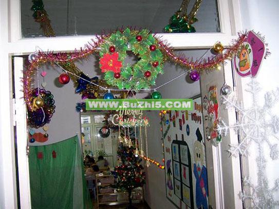 圣诞主题图片圣诞吊饰布置
