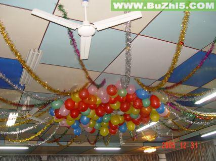 新年气球吊饰室内吊饰布置图片