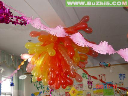 新年气球图形吊饰室内吊饰布置图片