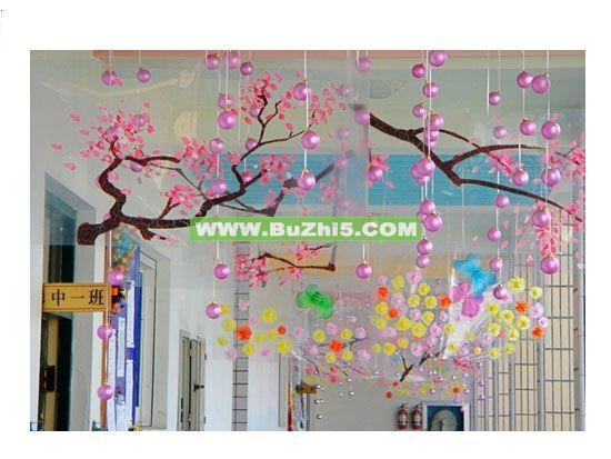 幼儿园走廊吊饰 春花烂漫
