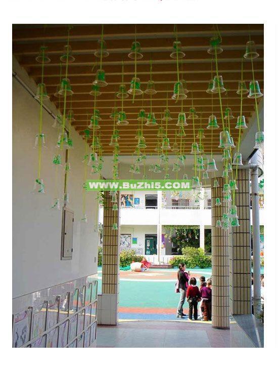 环保吊饰小班走廊吊饰布置图片