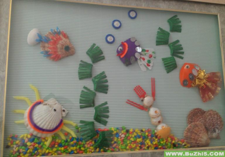 幼儿园环境布置楼道:海底世界;