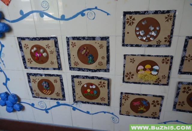 幼儿园大班楼道布置:墙画作品展示;