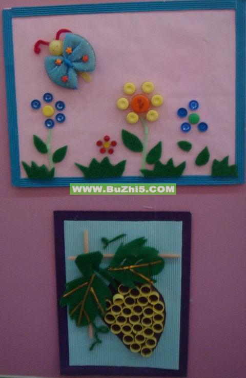 幼儿园楼道墙面布置图片:幼儿作品展_幼儿园楼梯图片