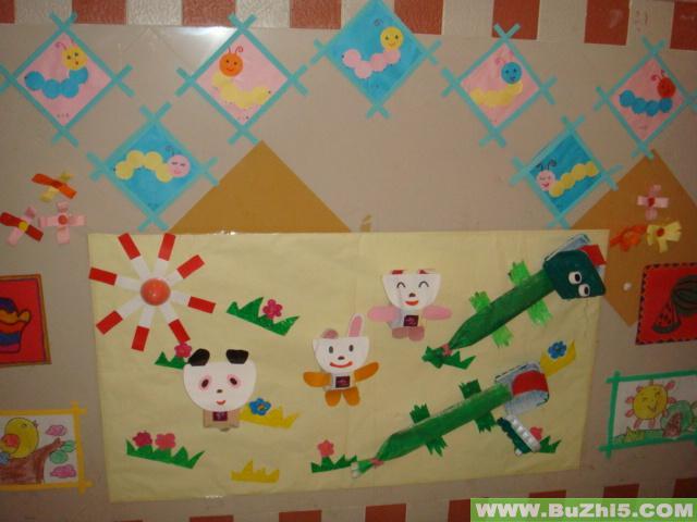 幼儿园楼道布置图片:幼儿作品展8-幼儿园楼梯; 幼儿作品展81; 幼儿园