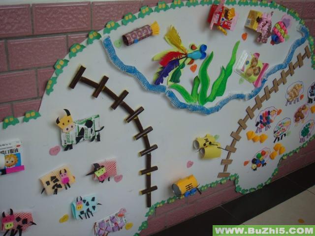 幼儿园走廊墙壁画图片,幼儿园墙壁装饰图片,幼儿园墙壁布置