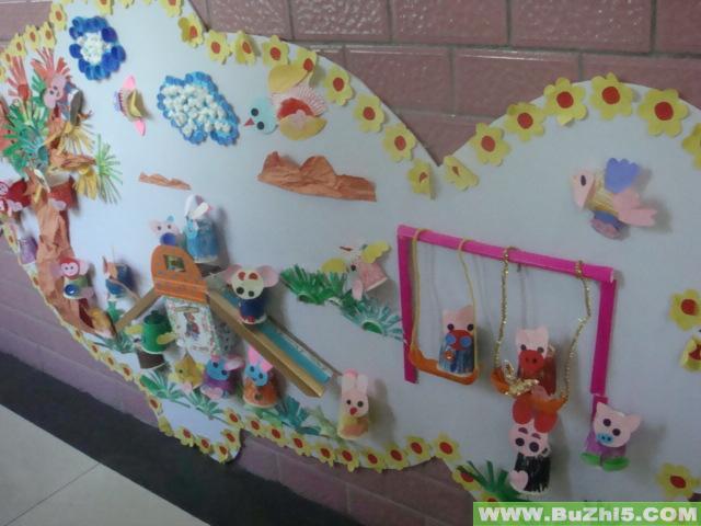 幼儿园楼道墙面大班作品布置 第14页