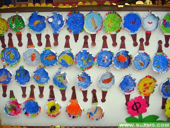 各种鱼类走廊墙面布置图片