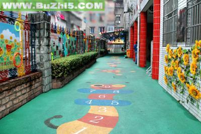 幼儿园户外游戏区布置图片大全