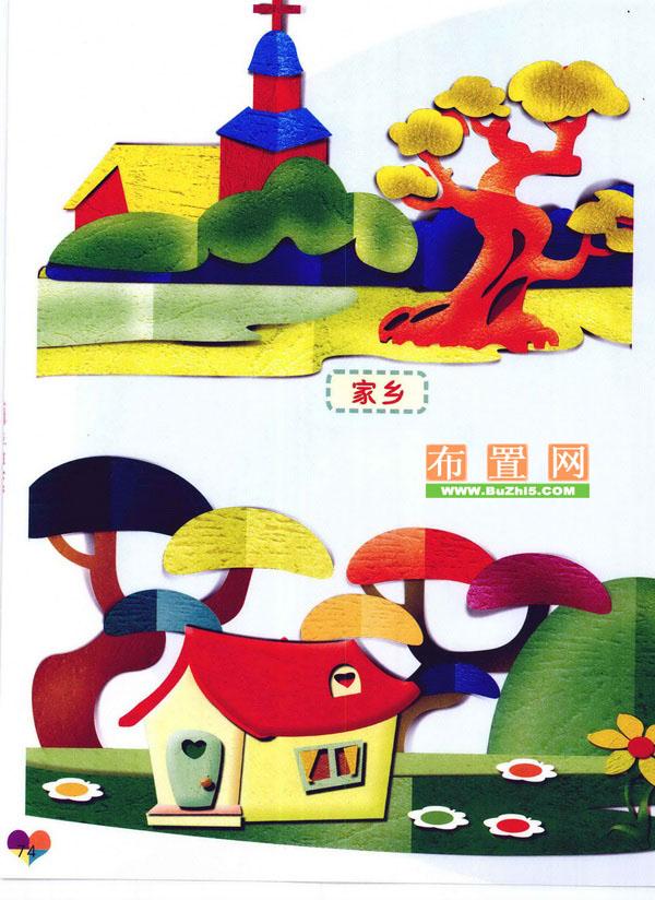 夏季纸雕案例精选:家乡