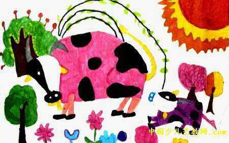 儿童画画大全 儿童水彩画  《我爱自然》儿童画2幅下载说明:在图片上