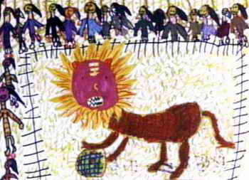 儿童画作品欣赏 《未来的河流》儿童画作品欣赏