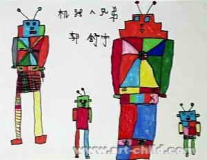 《快乐的动物园》儿童画作品欣赏