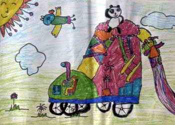 《我快乐的家》儿童画