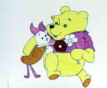《动物画》儿童画5幅