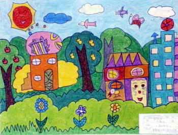 《美丽的家园》儿童画(一)10幅(第3页)