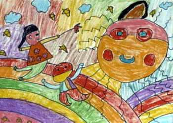 》儿童画作品欣赏