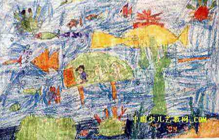 《奇妙的海底世界》儿童画6幅