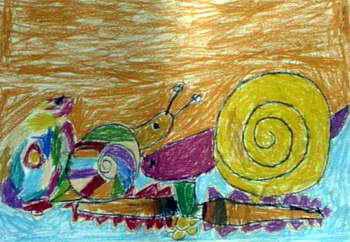 《亲密》儿童画2幅