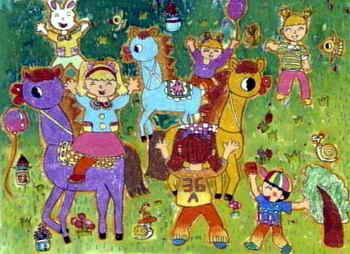 儿童画画大全 儿童水彩画  《快乐童年》儿童画9幅下载说明:在图片上