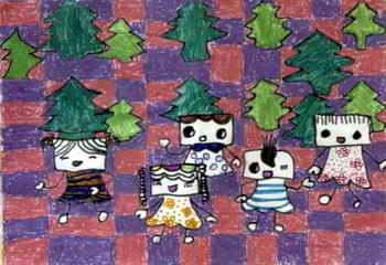 《机器人pantay》儿童画图片