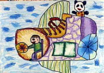 《皮鞋飞机》儿童画