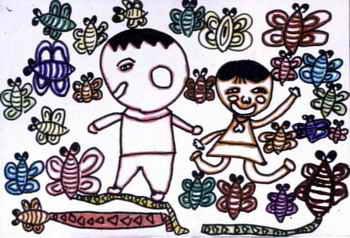 儿童画画大全 儿童水墨画  《我的朋友》儿童画6幅(第3页)下载说明:在