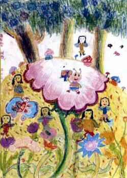 《美丽的花园》儿童画3幅(第3页)