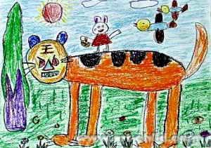 滑稽人 儿童画作品欣赏图片