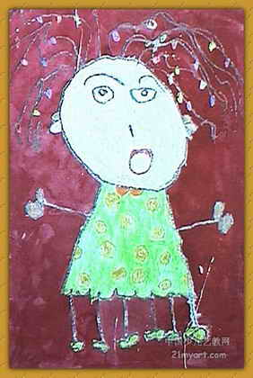 儿童画画大全 儿童油画棒画  《唱歌跳舞》儿童画作品欣赏下载说明:在
