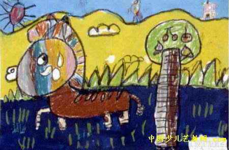 《毛驴》儿童画作品欣赏