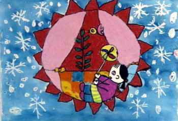关于冬天的儿童画_冬天的画儿童画