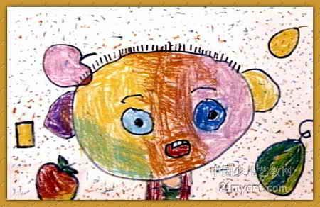 《自画像》儿童画(一)8幅