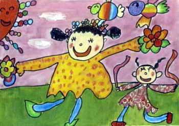《快乐舞蹈》儿童画作品欣赏