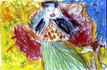 儿童画 《舒服》儿童画